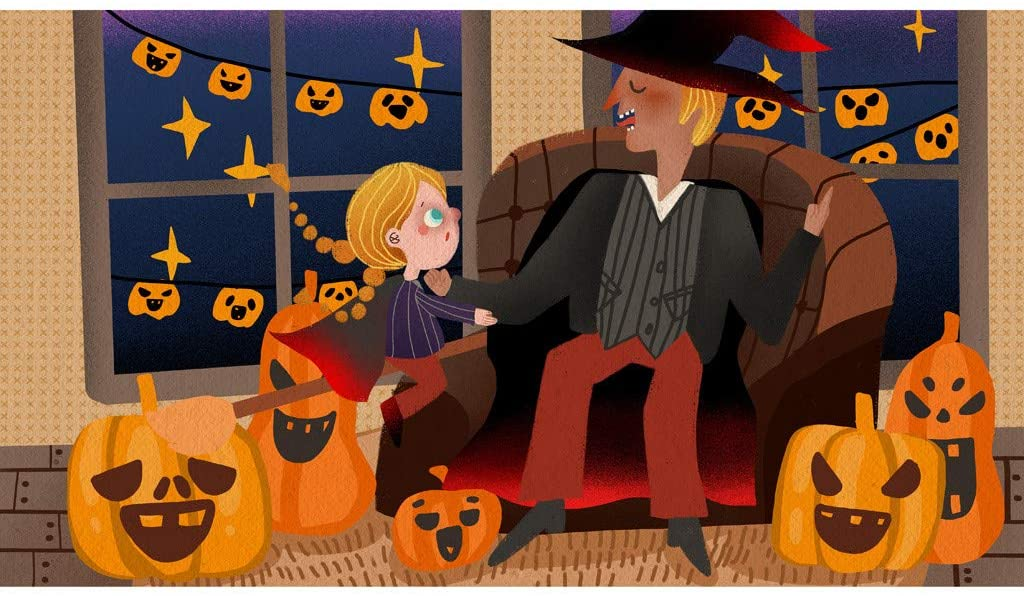 Witch, Pumpkin Cute Painting Pattern Jigsaw Puzzle, Family Halloween Puzzle, 1000-Piece Halloween Paper Family Decoration Puzzle for Adults and Children