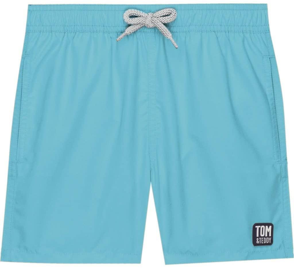 Tom & Teddy Boy's Solid Swim Trunk   Pool Blue - 5-6
