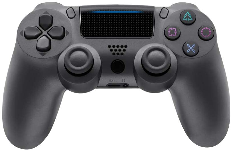 Wireless Controller for PS4 Playstation 4 Dual Shock 4-Steel-Black