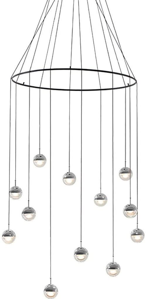 Seed Design Dora Pendant 12-Light Set with Ring | Chrome