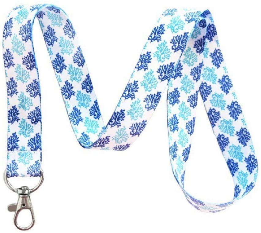 Nautical Lanyard Key Chain Id Badge Holder (Seaweed)