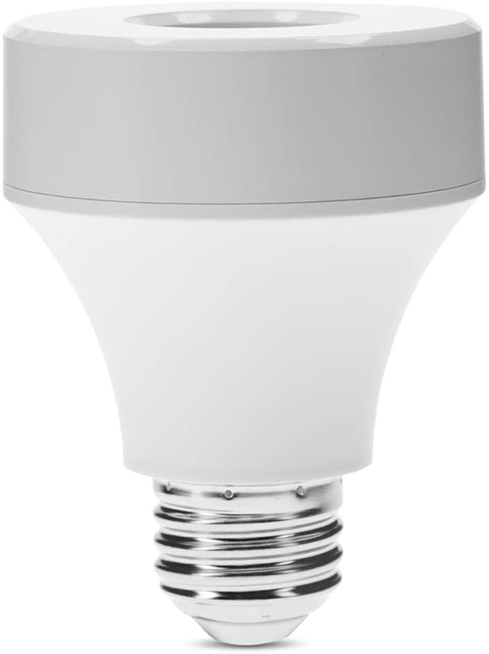 WiFi Smart Phone Control Light Bulb Socket Adapter, Wireless Light Bulb Base, Lamp Holder Switch Compatible with Alexa and Google Assistant and Alexa Accessories