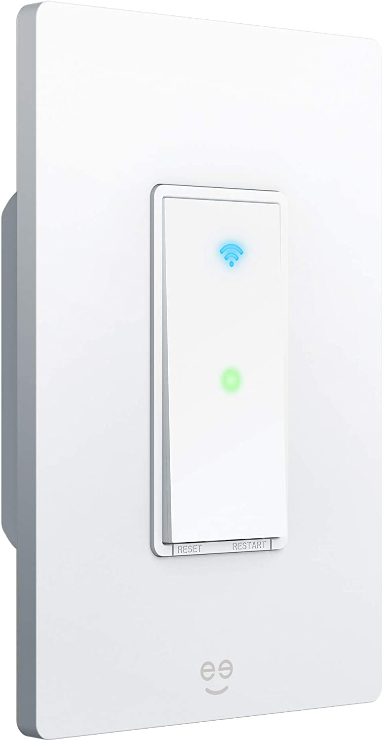 Geeni TAP Smart Light Switch, White, 1 Switch - No Hub Required - Requires Neutral Wire - Smart Light Switch Works with DHgate Alexa, Google Assistant & Microsoft Cortana, Requires 2.4 GHz Wi-Fi