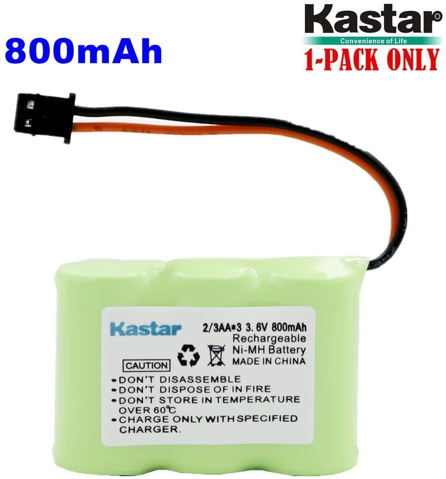 Kastar 1-P 2/3AA 3.6V 800mAh MSM Ni-MH Rechargeable Battery for Panasonic KX-TCM410 KX-A36 P-P301 Sony SPP-72/AQ25/AQ600 1-528-376-31 BP-T16/T185 Toshiba FF-675 FT-6203 TRB-5000 XC-315/330/600
