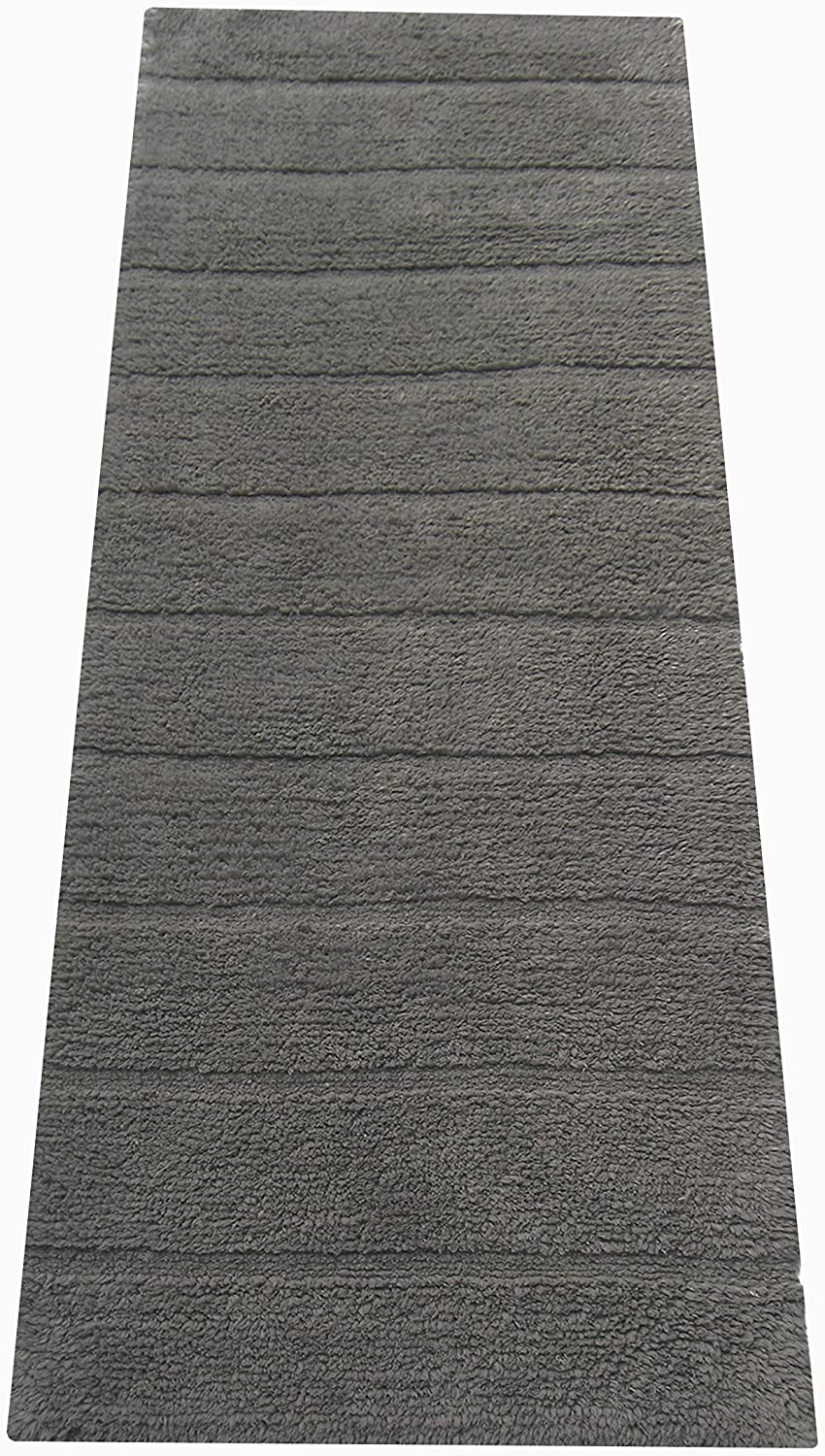 Chardin home New Cordural Solid Bath Runner with Latex Spray Non-Skid Backing, 24