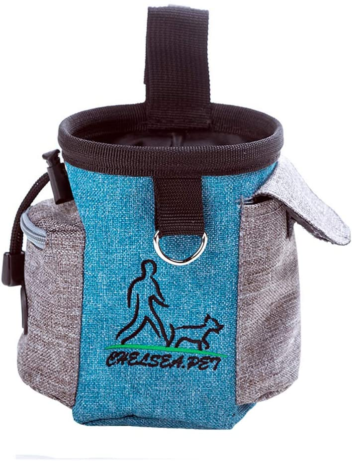 YujueShop Dog Treat Pouch Training Bag Outdoor Pet Pocket for Treats Reward Walking, Running Waist Bag Food Snack Bag for Easily Carries Pet Toys Kibble Treats
