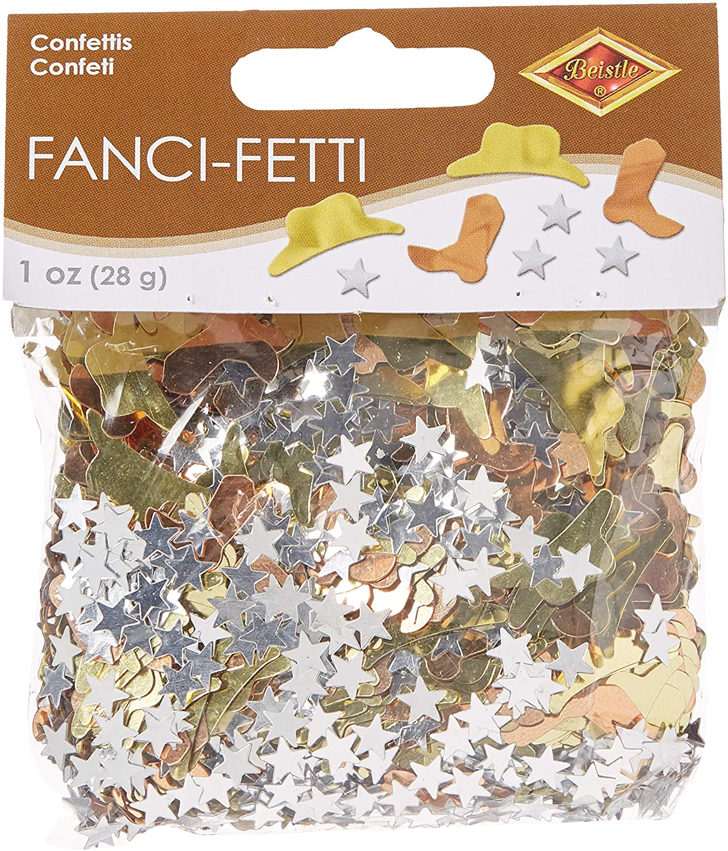 Fanci-Fetti Western Icons (copper, gold, silver) Party Accessory  (1 count) (1 Oz/Pkg)