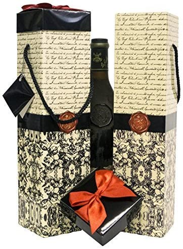 EndlessArtUS Wine Gift Box Florence Medoc Collection Set of 2 Reusable Caddies Assemble in Seconds with Gift Tags Included - No Glue or Tape Required