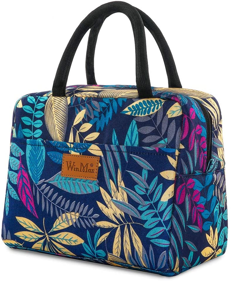 winmax Lunch Bag Cooler Bag Stylish Lunch Box for Women Insulated Lunch Container Tote Bag for Work/Beach/Picnic/School, Keep Cooler