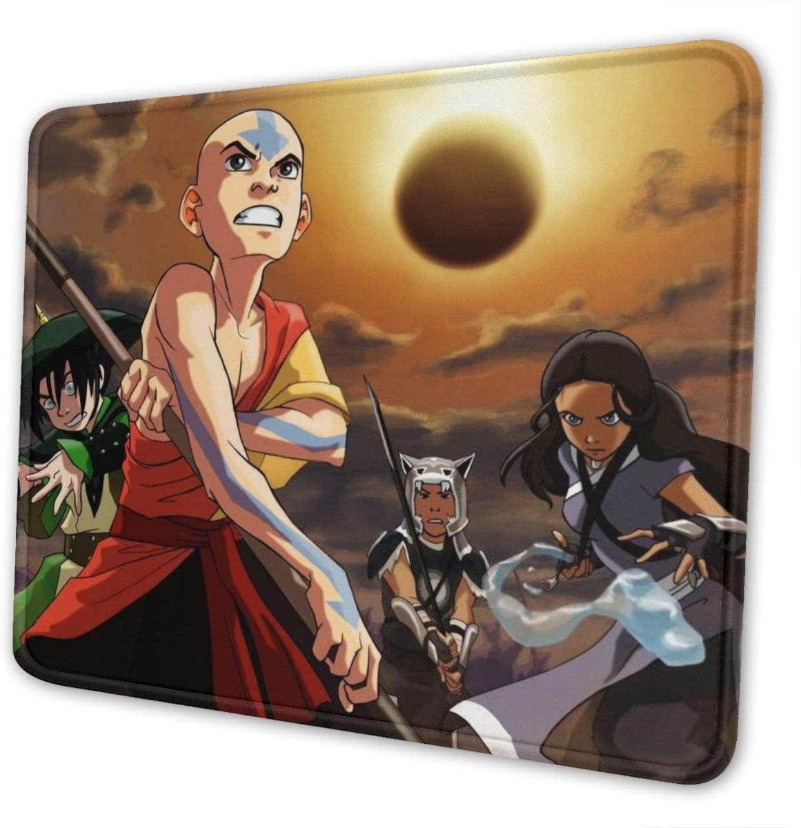 Didrika Avatar The Last Airbender Mouse Pad with Stitched Edge, Premium-Textured Mouse Mat, Non-Slip Rubber Base Mousepad for Laptop, Computer & Pc,7 X 8.6 in