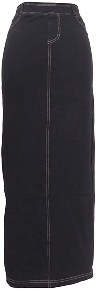Hard Tail Forever Long Stretch Skirt with Back Pockets and Slit - Style WJ-111