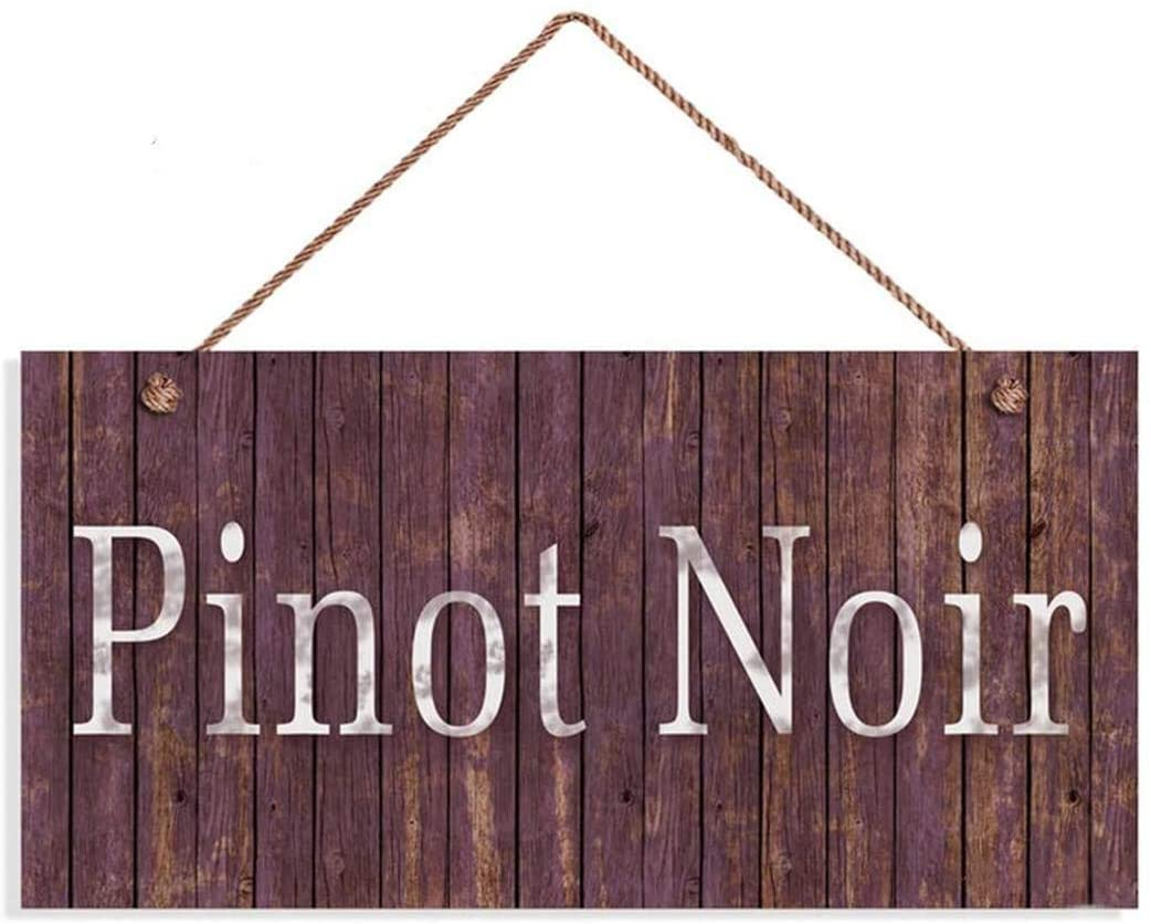 LPLED Pinot Noir Wine Sign, Distressed Wood Style, 10x5 Sign, Tuscan Decor, Wine Bar Sign, Rustic Signs, Style 2(ZY1071)
