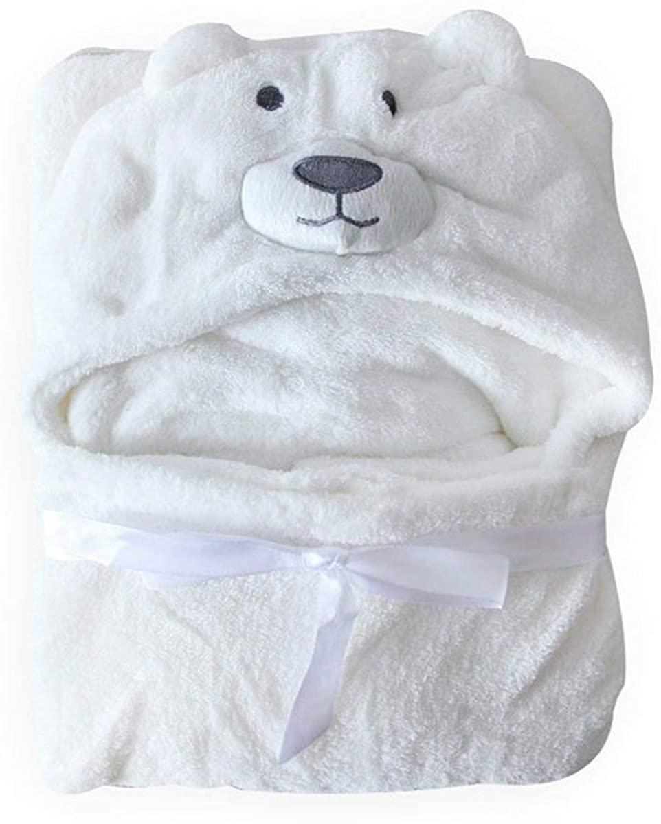 SH-RuiDu Soft Cute Animal Bear Baby Hooded Hoody Blanket Bathrobe Wrap Toddler Bath Towel