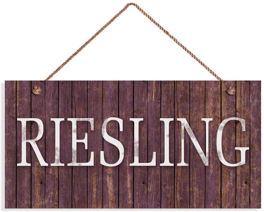 LPLED Riesling Wine Sign, Distressed Wood Style, 10x5 Sign, Plaque, Tuscan Decor, Wine Bar Sign, Rustic Signs(ZY1068)