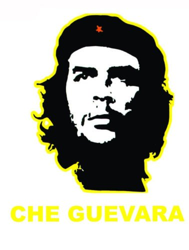 Multi Color Che Guevara Country National Flag Temporary Tattoos Water Transfer Biker Party Favor Tattoo (Yellow)