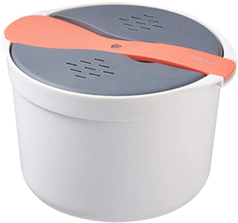 Microwave Rice Cooker, Microwave Rice Steamer, Multifunctional Cookware Steamer with Strainer Lid and Shamoji For Home Kitchen Cooking, -20 ℃ -120 ℃, 2L