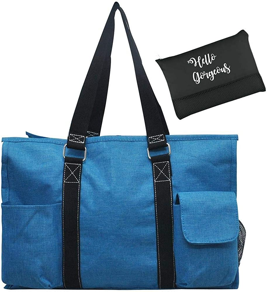 NGIL All Purpose Organizer Medium Utility Tote Bag & EGFAS Cosmetic Bag Bundle