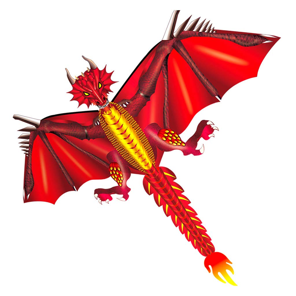 Kite for Kids Easy to Fly Dragon Kite for Outdoor Games and Activities Line with Tail Kite a Great Way to Enjoy and Spend Time with Friends and Family