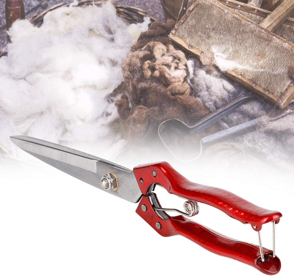 SOULONG Goat Hoof Trimmers 340mm Manual Sheep Shears Spring Loaded Sheep Wool Trimming Scissors 5.7inch Blade for Farm Supplies Sheep Animal Livestock