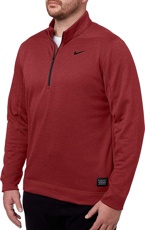 Nike Men's Therma Repel Golf ¼ Zip (Heather Burgundy Crush, Large)