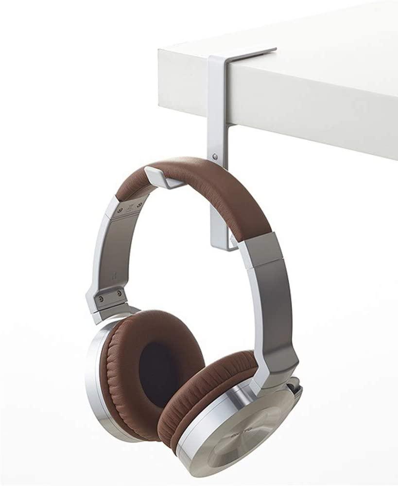 Onecut Headphone Hanger & Bag Hook, Universal Aluminum Metal Headphone Stand Holder for Bag and PC Gaming Headset & Wireless Headphone (White)