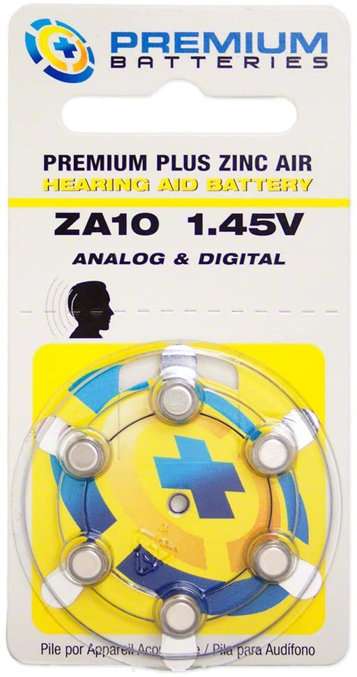 Premium Batteries Size 10 1.45V Hearing Aid Battery (120 Batteries)