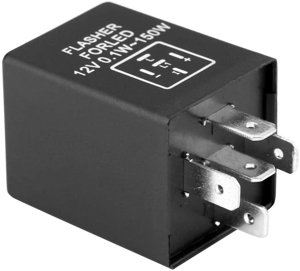 LED Flasher Relay 5-Pin EP27 FL27 Car Flasher Relay Decoder for LED Turn Signal Light 12V