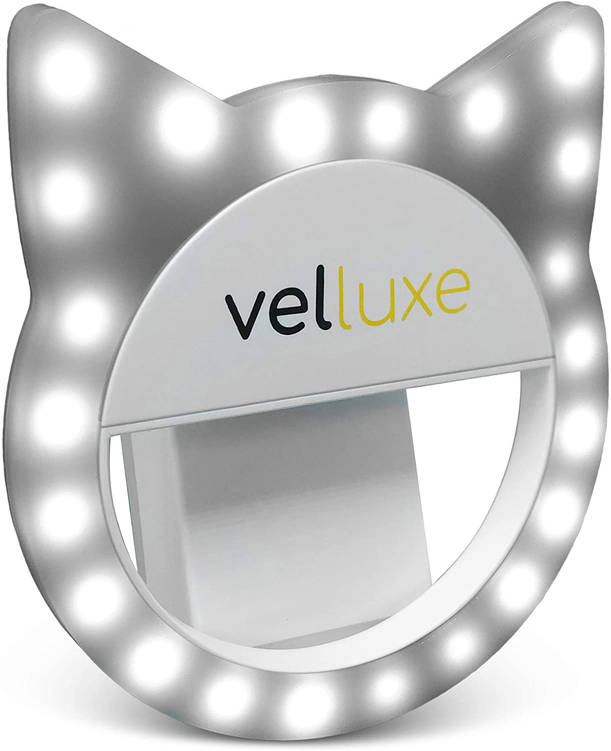 velluxe Selfie Ring Light - for iPhone/Android Smart Phone Photography, Clip On, 3 Different Brightness Levels
