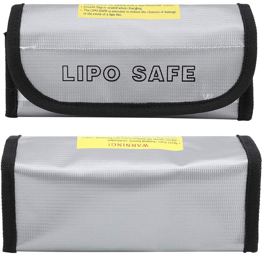 Liukouu Portable Fireproof File Bag, Fireproof Safe Bag, Durable Sturdy for Battery Battery Bromine Hydrogen Battery
