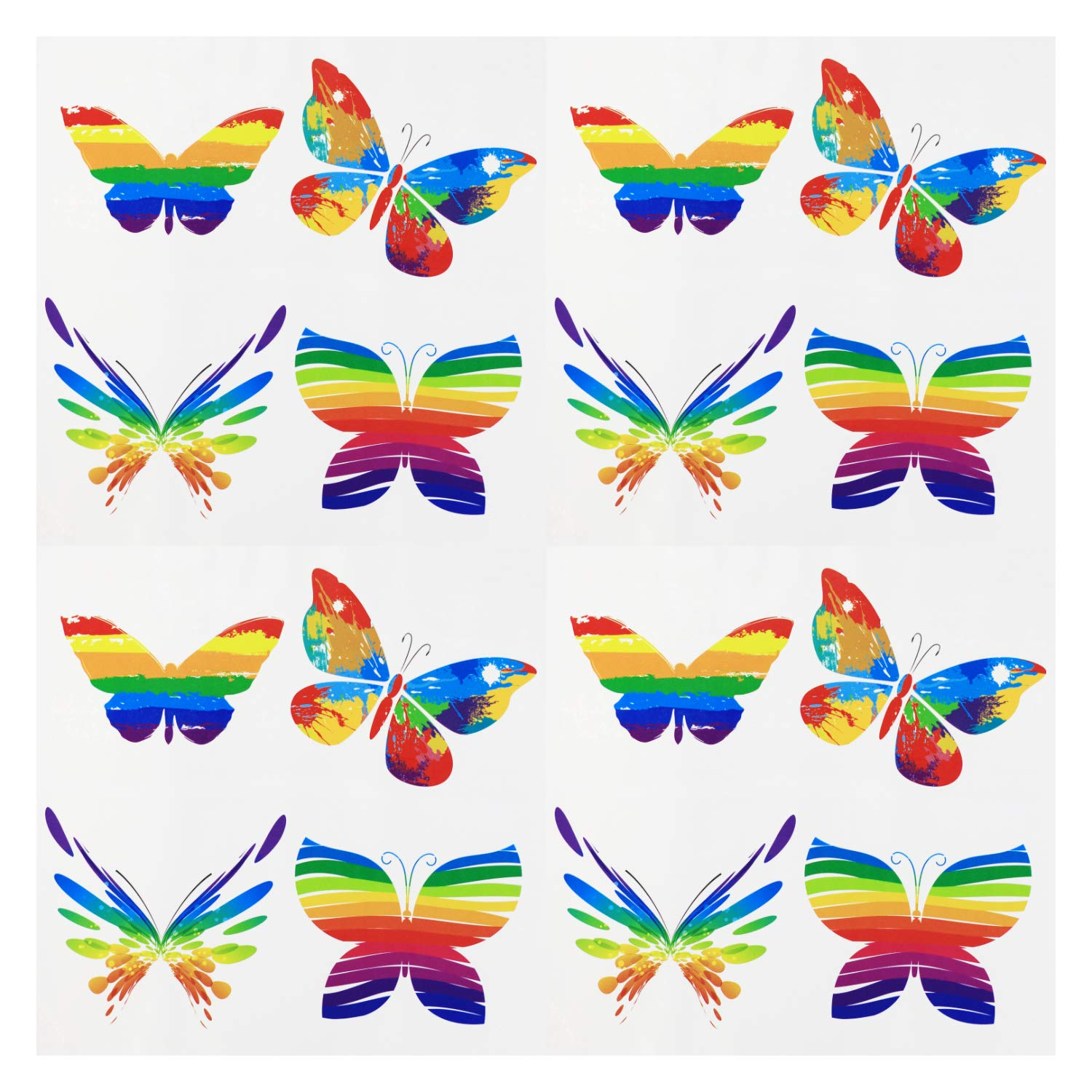 Fiomia Pride Temporary Tattoos Rainbow Butterfly Stickers for LGBTQ Pride Parades Festival Waterproof Body Paints 4 Sheets 16Pcs