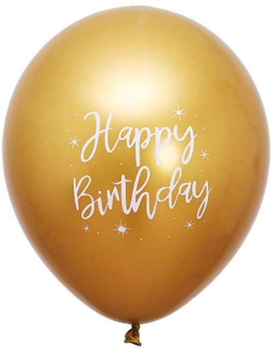 10 Pcs 12 inch HAPPY BIRTHDAY Decoration Latex Balloon Party Supplies