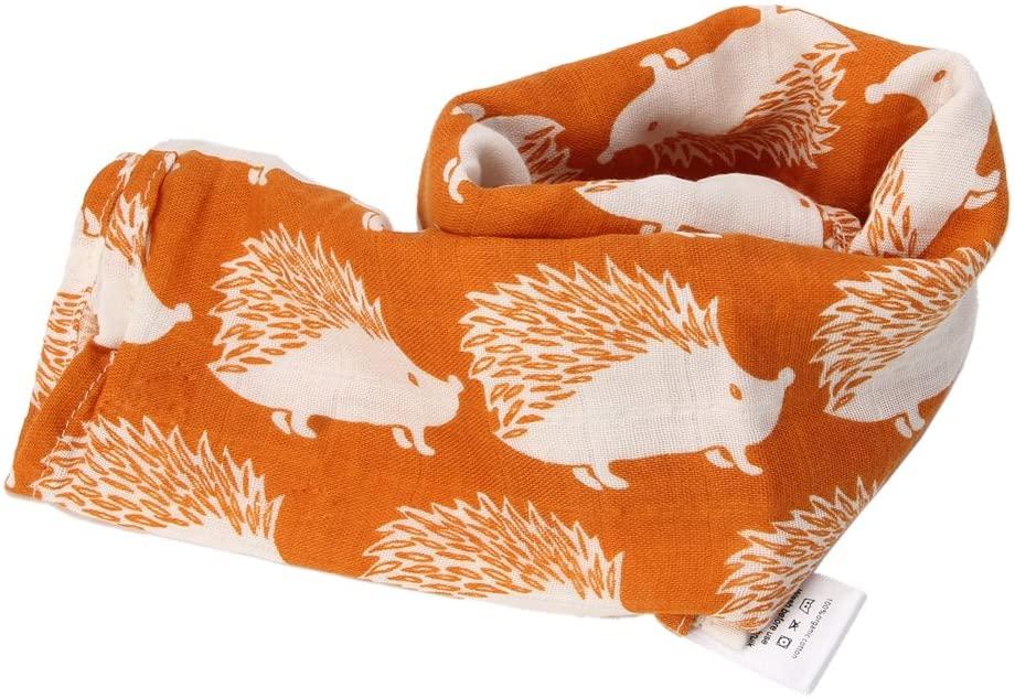 Shoresu 60x60cm Baby Towels Scarf Boy Girl Handkerchief Bathing Feeding Face Washcloth Hedgehog