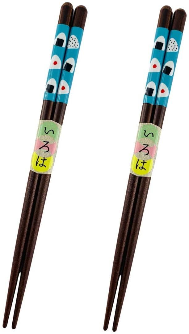 Sunlife Japanese Reusable Wooden Chopstick Set - 2 Pair (Blue Sushi)