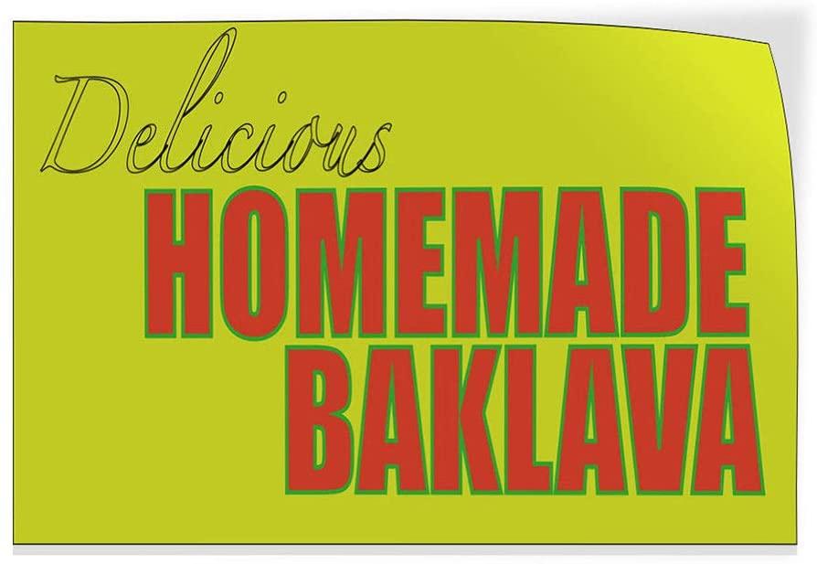 Delicious Homemade Baklava Indoor Store Sign Vinyl Decal Sticker 8