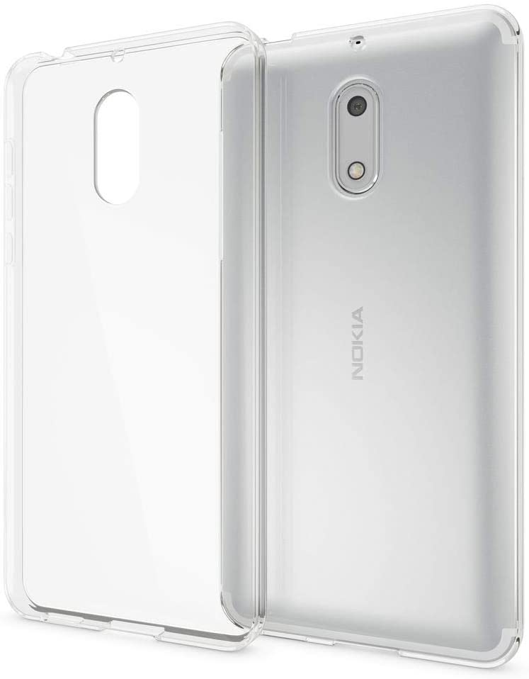 NALIA Case Compatible with Nokia 6, Mobile Phone Back-Cover Ultra-Thin Silicone Soft Skin Protector, Shock-Proof Crystal Clear Rubber Gel Bumper, Flexible Slim-Fit Transparent Protective Backcase