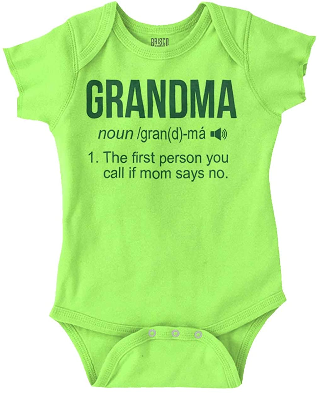 Brisco Brands Grandma Definition Funny Meaning Baby Gift Baby Romper Bodysuits