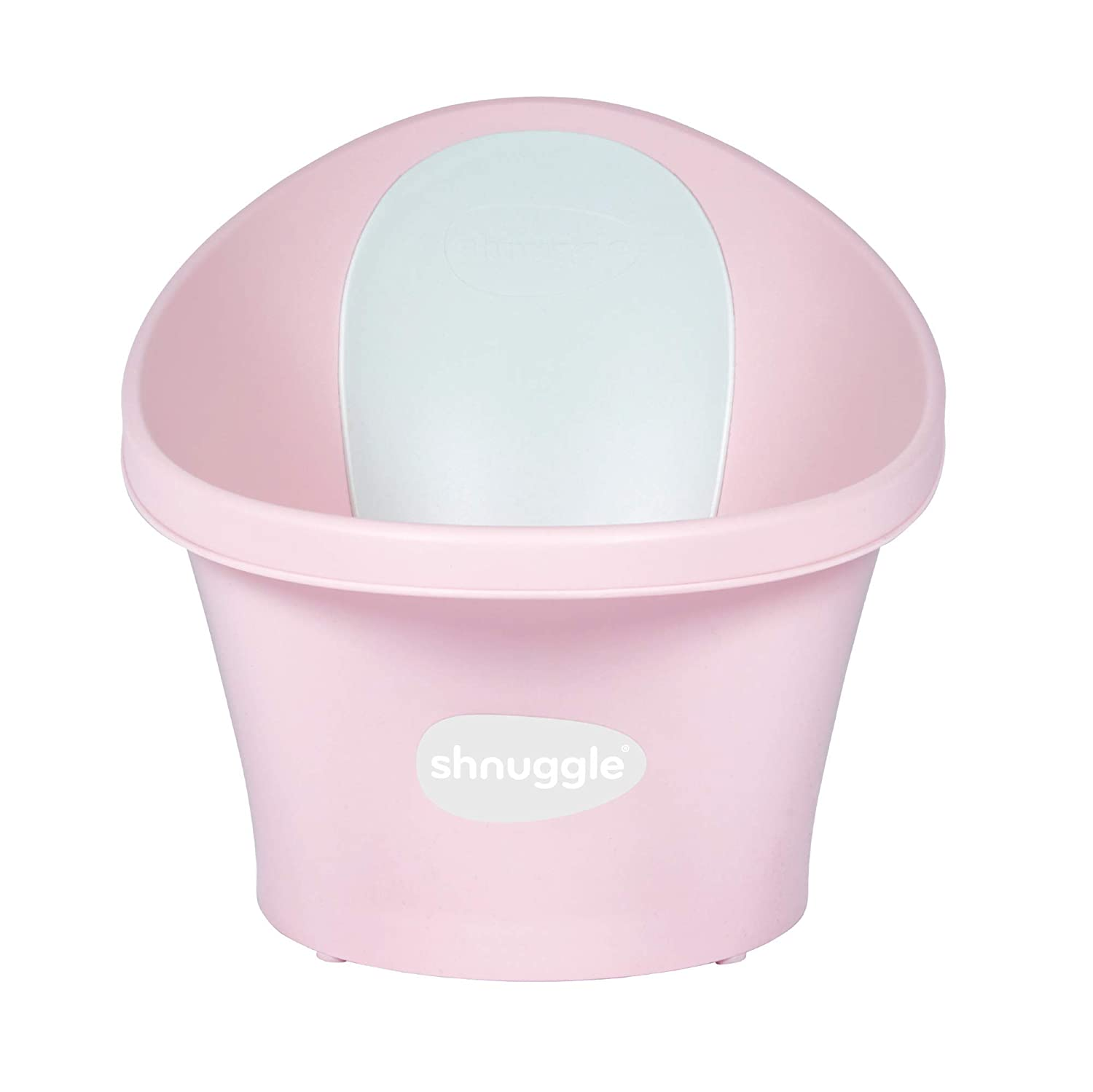 BEABA by Shnuggle Baby Bath Tub with Bum Bump Support and Cozy Foam Back Rest, Includes Handy Plug, 0-12 Months (Rose)