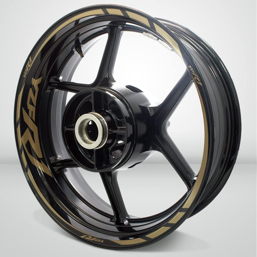 Matte Gold Motorcycle Rim Wheel Decal Accessory Sticker For Yamaha YZF R1