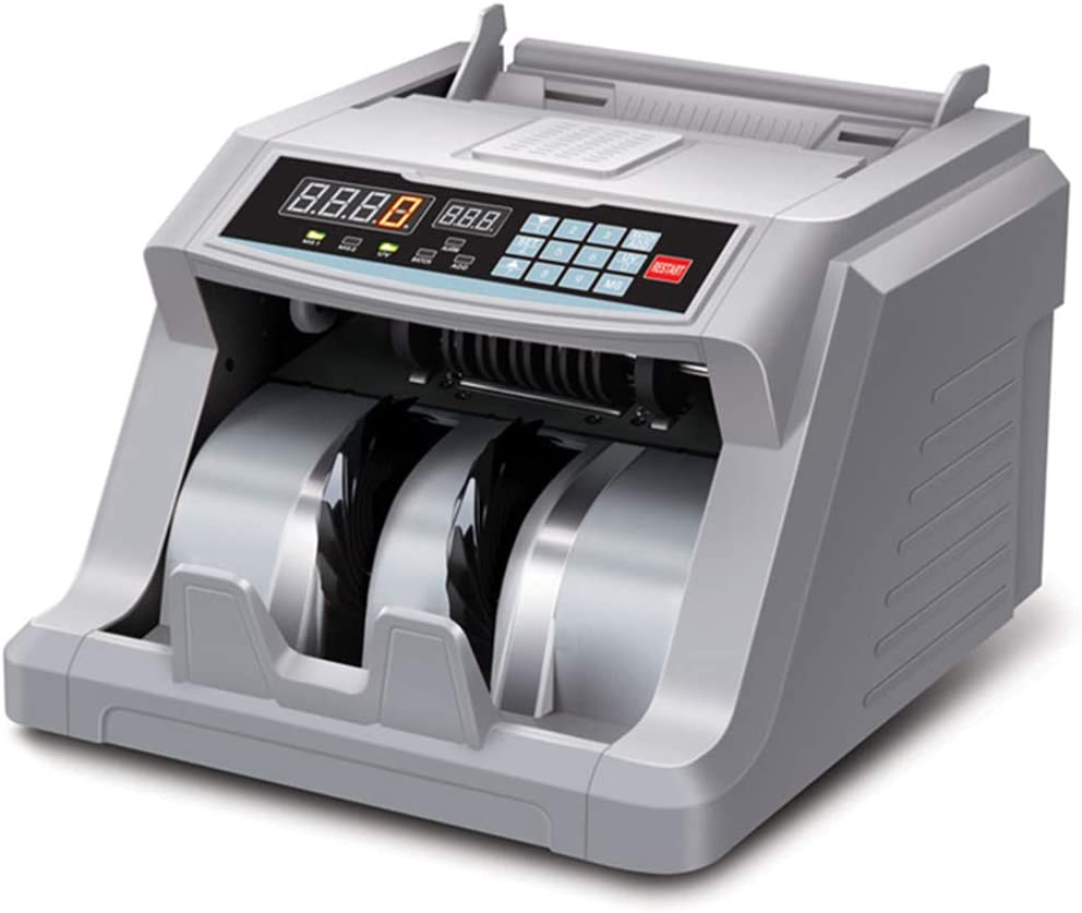 CGOLDENWALL 6600 Foreign Currency Counter Business Grade Money Counter Plug-in Bill Counter for Thai Baht Indonesian Currency Counterfeit Money Detector with UV and MG Detection (220V)