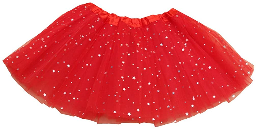 Csbks Girls Sparkle Layered Tulle Skirt Princess Ballet Dance Mini Tutus