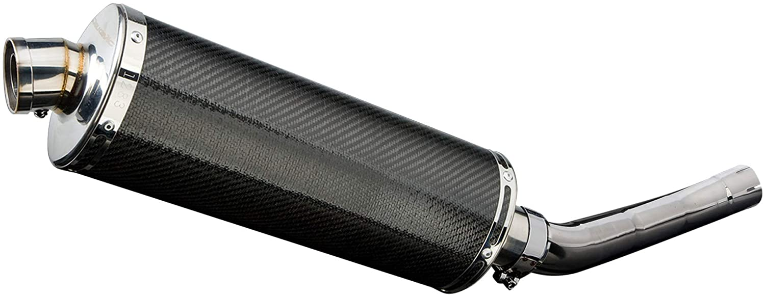 Delkevic Aftermarket Slip On compatible with Z750 Stubby 14