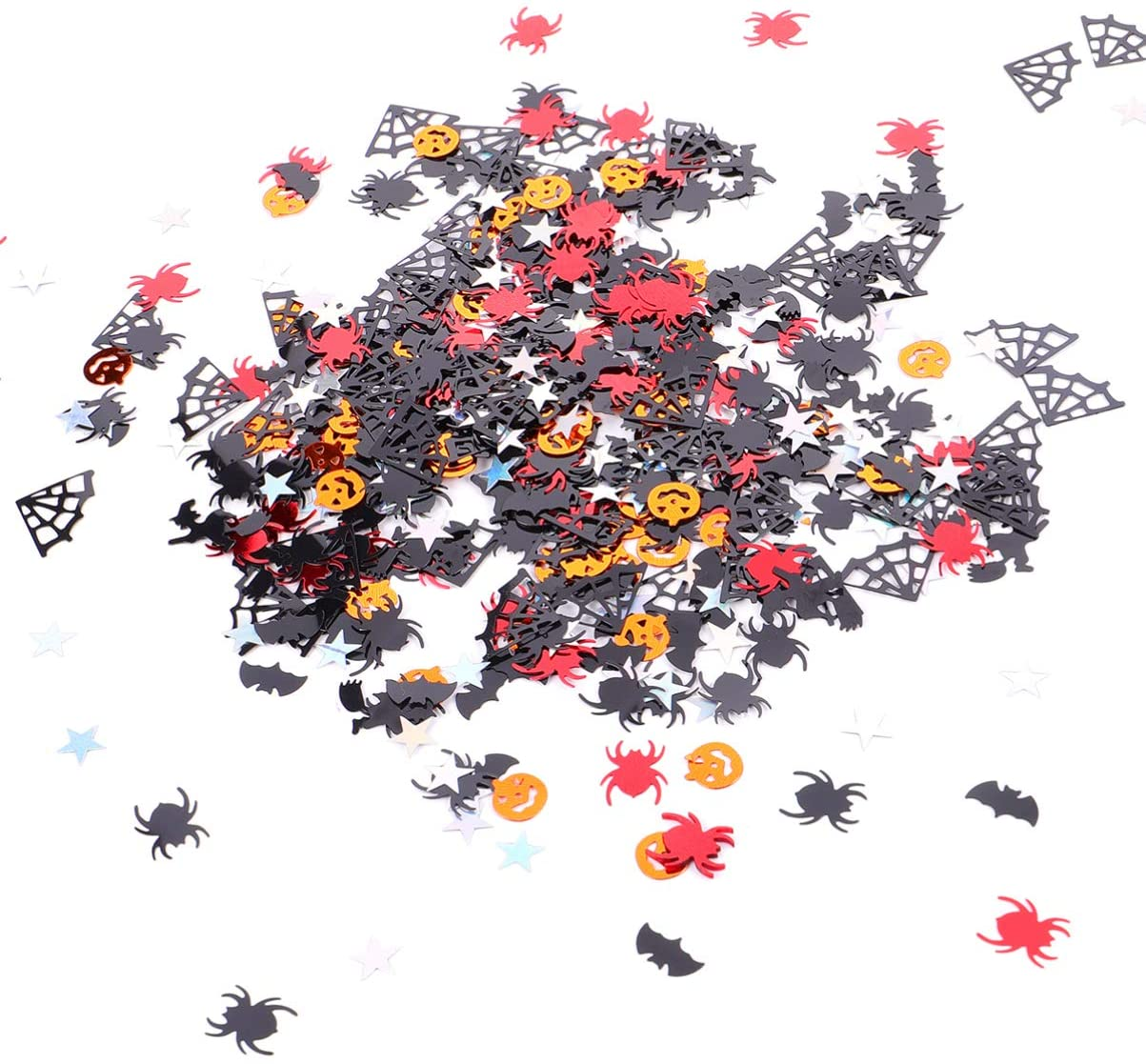 NUOBESTY Halloween Confetti Mini Confetti Night Party Table Scatter Plastic Throwing Confetti Sprinkles for Halloween Party Table Decoration and DIY Craft 4 Bags