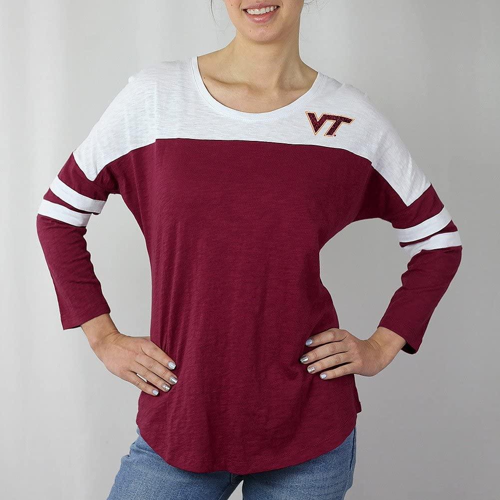 Elite Fan Shop NCAA Women's Colorblock Tshirt