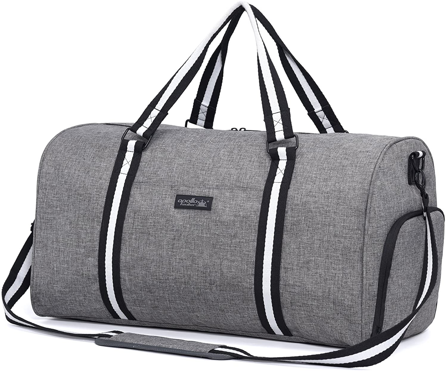 apollo walker Water Resistant Sports Gym Duffel Bag with Shoes Compartment Travel Weekender Bag