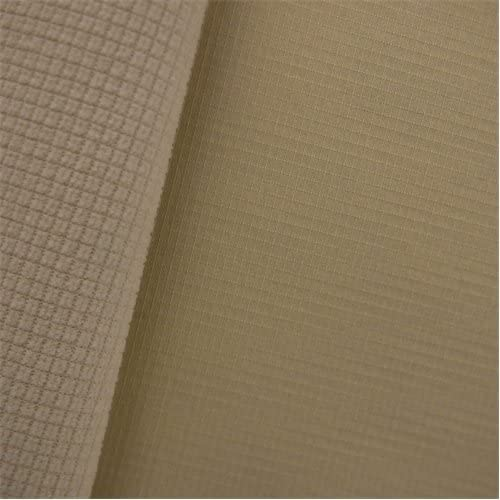 Gridded Soft Shell Fleece - Ivory, Fabric by The Yard