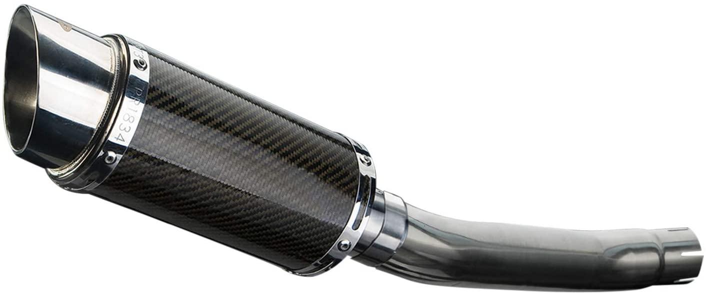 Delkevic Aftermarket Slip On compatible with Suzuki GS500E & GS500F Mini 8