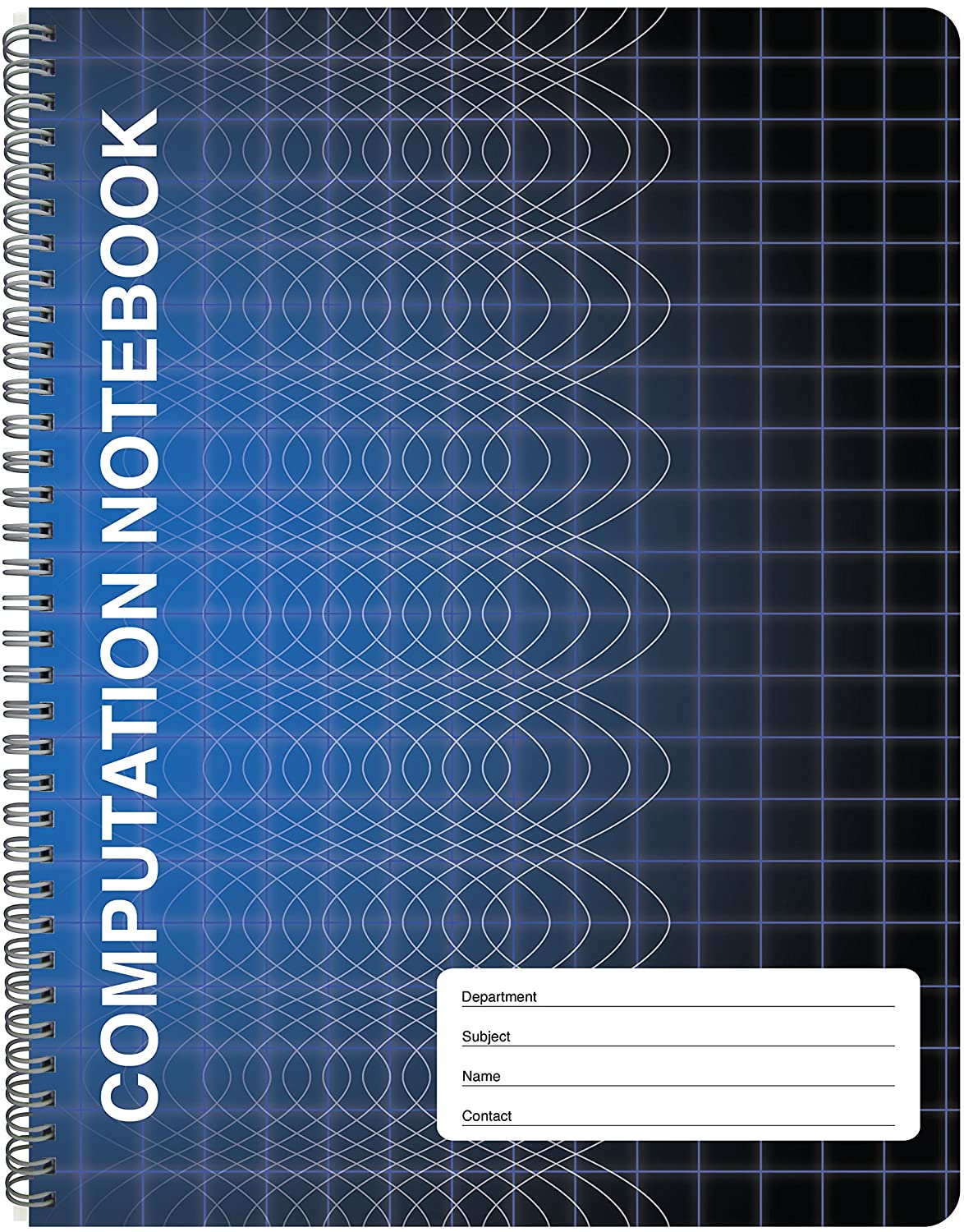 BookFactory Computation Notebook/Engineering Notebook - 100 Pages (9 1/4