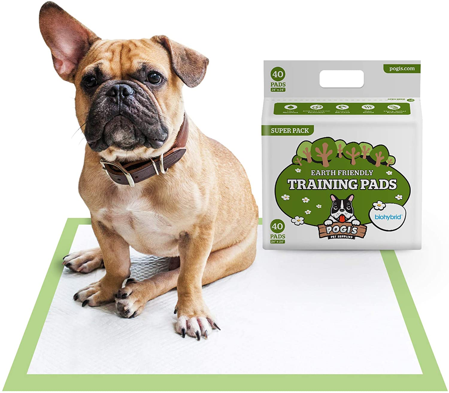 Pogi's Training Pads - Large, Super-Absorbent, Earth-Friendly Puppy Pee Pads for Dogs