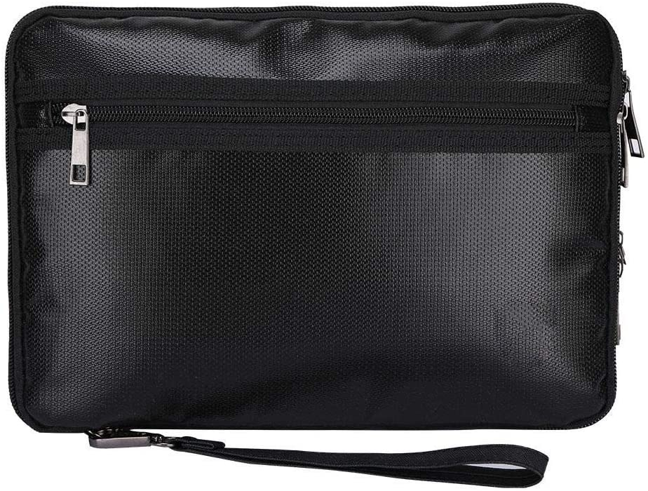 Fdit Fireproof Document Bag Waterproof and Fireproof Money Bag Non-Itchy Silicone Coated Fire Resistant Bag
