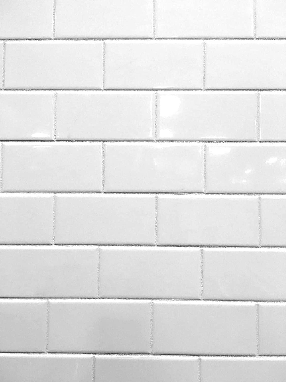 3x6 White Glossy Ceramic Subway Tile Wall Backsplash Made in USA